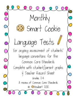 Monthly Grammar Assessments, Common Core, Smart Cookies