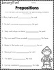 Monthly Grammar for January (2nd & 3rd Grade)