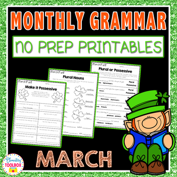 Monthly Grammar for March (2nd & 3rd Grade)