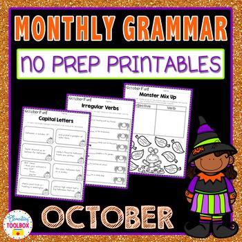 Daily Grammar for October (2nd & 3rd Grade grammar worksheets)
