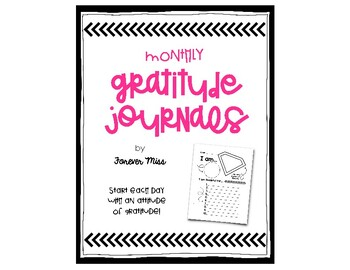 Monthly Gratitude Journals