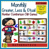 Greater Than, Less Than or Equal To Monthly & Holiday  Math Games
