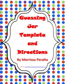 Monthly Guessing Jar Activity By Merrissa Peralta Tpt