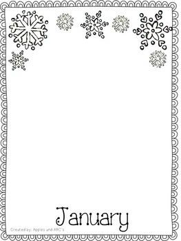 Monthly Handprint Art Template