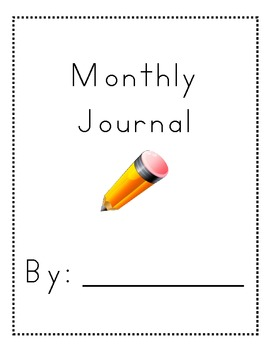 Monthly Handwriting Journal with Writing Prompts