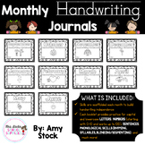 Monthly Handwriting Journals