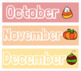 Monthly Headers/Labels