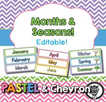 Monthly Headers & Seasons