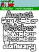 Monthly Headers / Toppers Clipart / Graphics