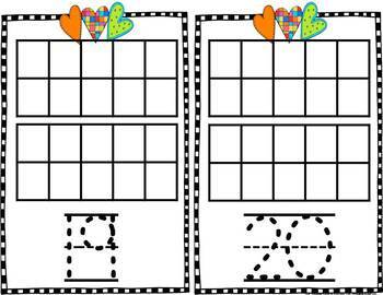 Ten Frame Monthly & Holiday Counting & Numeral Writing Mats