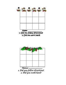 Monthly Holiday Themed  Sticker Charts