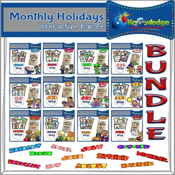 Monthly Holidays Interactive BUNDLE