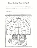 Monthly Home Reading Practice Charts bundle! Includes 7 charts!