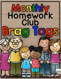 Monthly Homework Brag Tags
