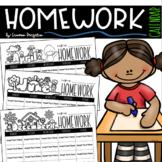 Monthly Homework Calendars Year Round EDITABLE