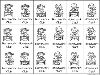 BRAG TAGS: Monthly Homework Club--Black and White Version {Behavior Incentive}