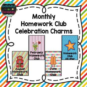 Monthly Homework Club Brag Tags