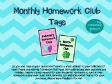 Monthly Homework Club Tags