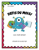 Monthly Homework French Immersion Grade 1