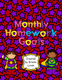Monthly Homework Goals