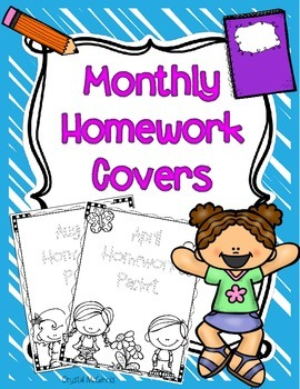 Monthly Homework Packet Covers