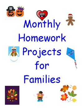 Monthly Homework Projects for Families