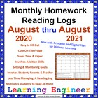 Reading Logs For A Whole Year - Monthly Reading Logs (Home