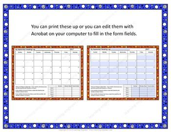 Goal Setting Monthly Reading Logs Editable