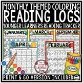 Monthly Homework Reading Logs Kindergarten, 1st Grade, Pre-K,  Preschool