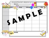 Monthly Homework Schedule Printables