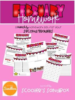 Monthly Homework Set - February (Editable)