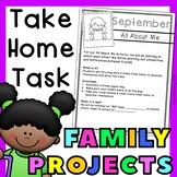 Monthly Take Home Activities for Preschool or Kindergarten
