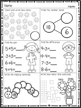 Monthly IN A SNAP  No PREP Printables Bundle for Math and Literacy