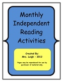 Monthly Independent Reading Activities