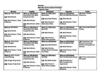 Monthly Instructional Planner - Differentiation