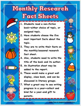Monthly Intermediate Research Fact Sheets