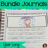 Monthly Writing Journal Bundle: August-May