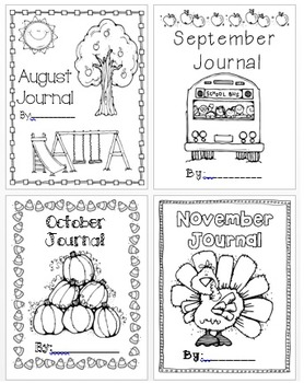 Monthly Journal Covers: August-May