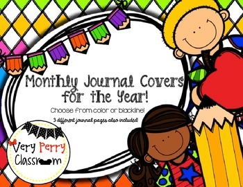 Monthly Journal Covers for the year