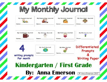 Monthly Journal Differentiated BUNDLE Months August - May