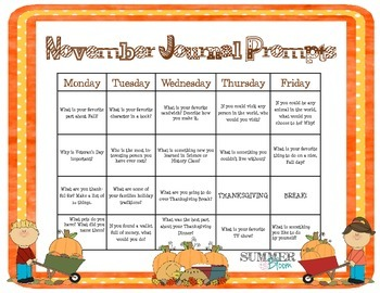 Monthly Journal Prompt Calendars