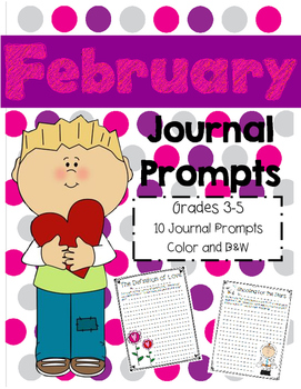 Monthly Journal Prompts: February