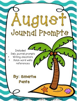 Monthly Journal Writing Prompts- August