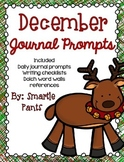 Monthly Journal Writing Prompts- December