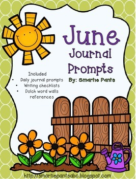 Monthly Journal Writing Prompts- June