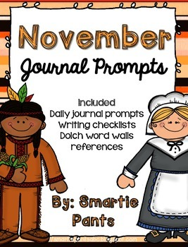 Monthly Journal Writing Prompts- November