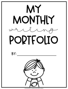 Elementary Monthly Journal Writing Portfolio for Grades K-2