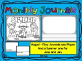 Monthly Journals / Writing Paper