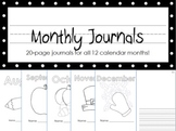 Monthly Kindergarten Journals