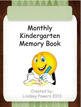 Monthly Kindergarten Memory Book